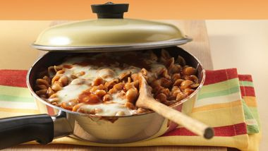 Tomato and Cheese Pasta Skillet