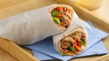 Slow-Cooker Teriyaki-Sesame-Chicken Wraps