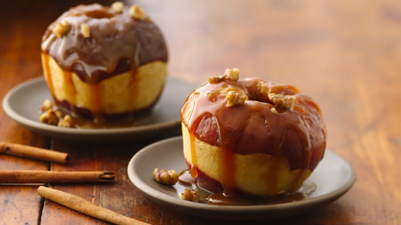 Baked Maple Apples with Caramel Sauce