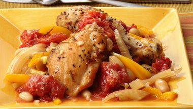Gluten-Free Braised Chicken with Fennel and White Beans
