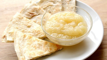 Cream Cheese and Apple Sauce Quesadillas