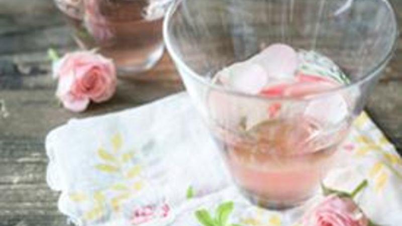 Cosmopolitan Cocktail with Rose Petals
