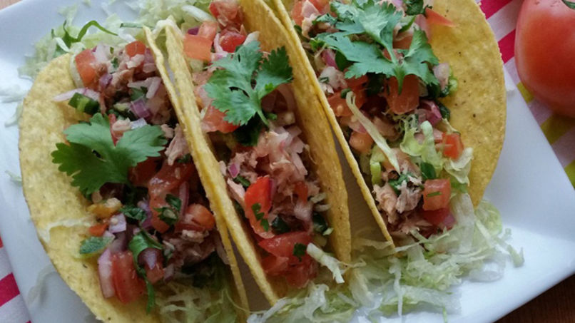 Crunchy Tuna Tacos