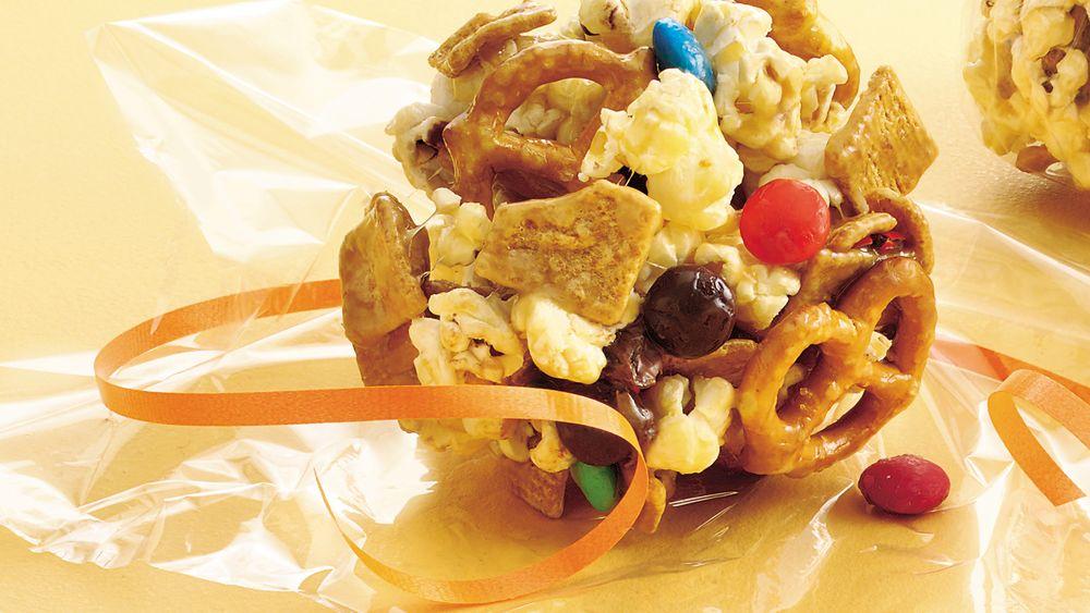 Halftime Caramel Popcorn Balls