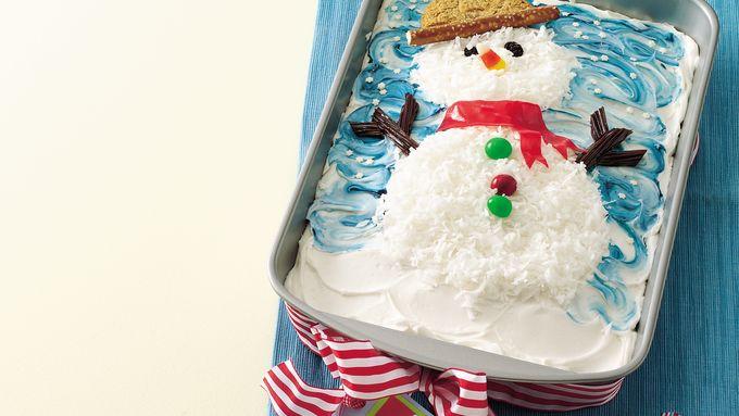 Confetti Snowman Cake