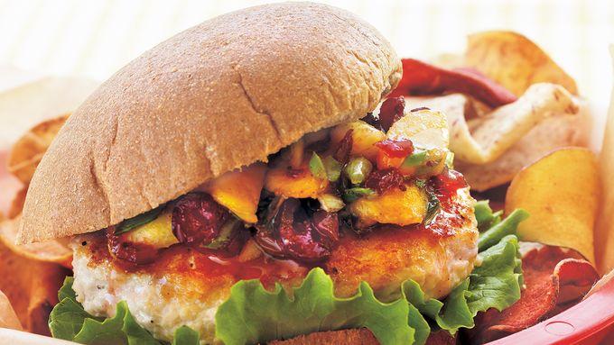 Turkey Burgers with Chutney