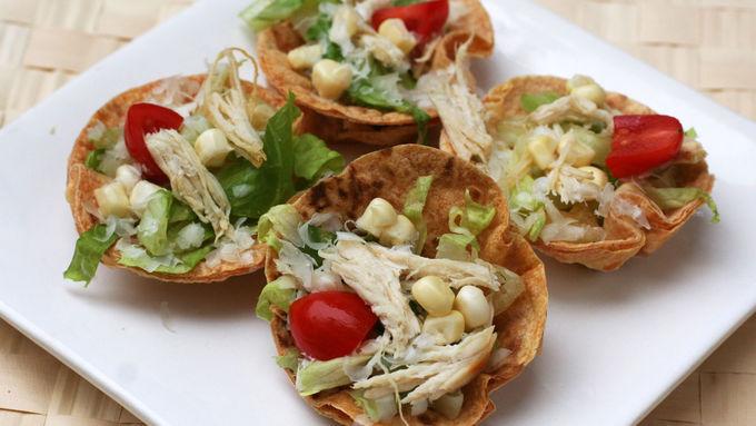 Mini Chicken-Caesar Salads