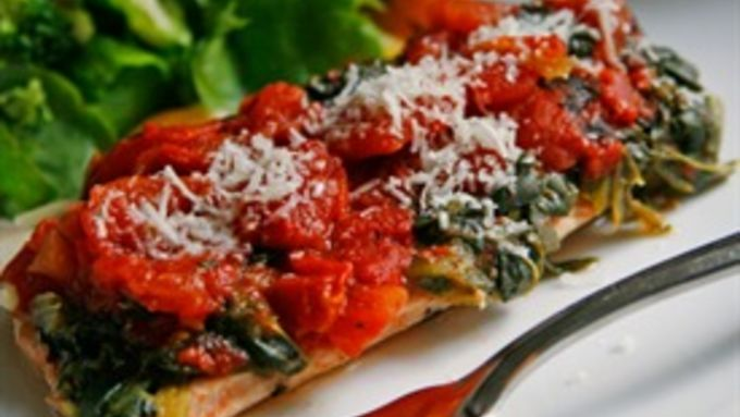 Easy Spinach and Tomato Turkey Packets