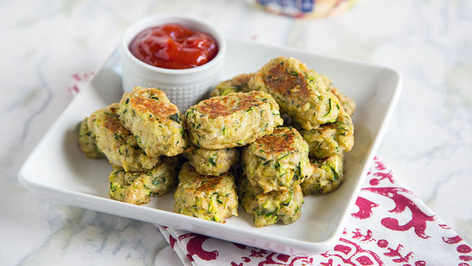 Oven-Fried Zucchini Tots