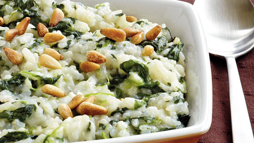 Baked Risotto with Spinach