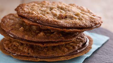 Coconut Pecan Florentine Sandwich Cookies