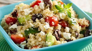 Quinoa Salad with Tomatoes, Cucumbers and Cheese