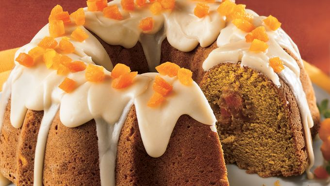 Apricot-Filled Pumpkin Cake with Browned Butter Frosting