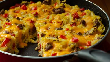 Cheesy Hashbrowns Frittata