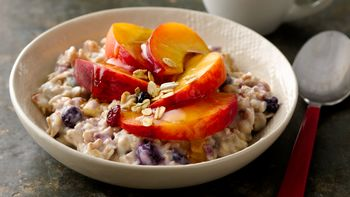 Overnight Peach Blueberry Muesli