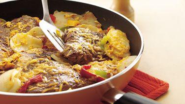 Cheesy Steak and Potato Skillet