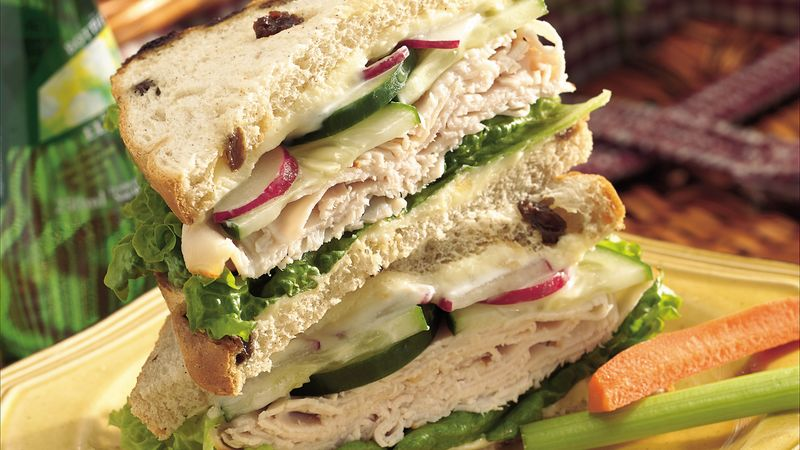 Swiss Almond Turkey Sandwiches