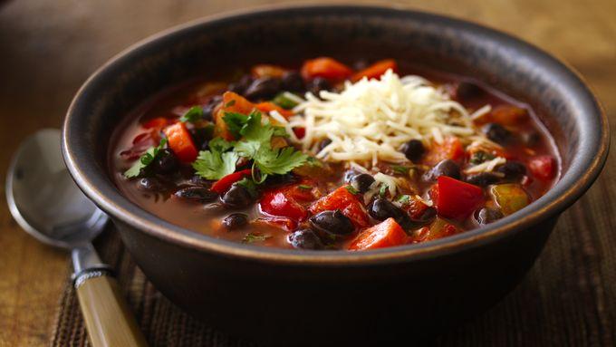 Black Bean Chili with Cilantro