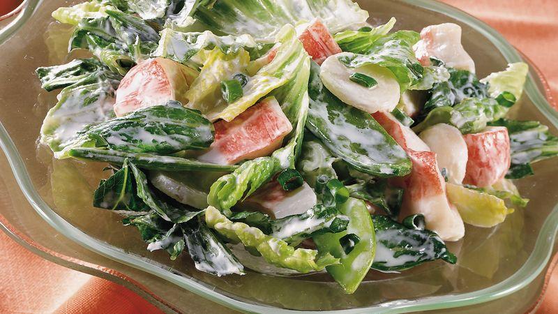 Make-Ahead Layered Seafood Salad