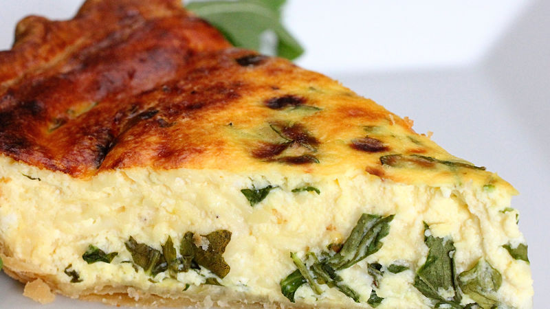 Ricotta and Arugula Quiche