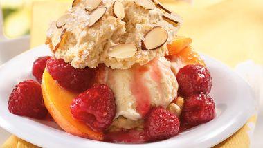 Peach Melba Shortcakes