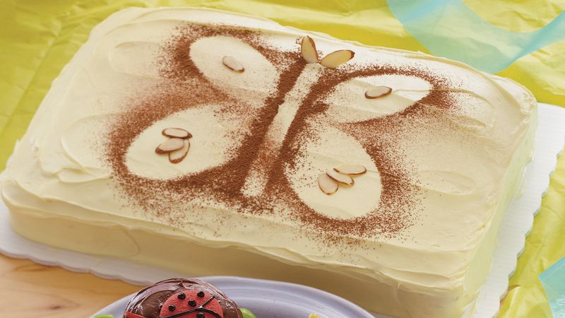 Butterfly Stencil Cake