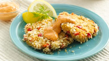 Baked Crab Cakes with Remoulade