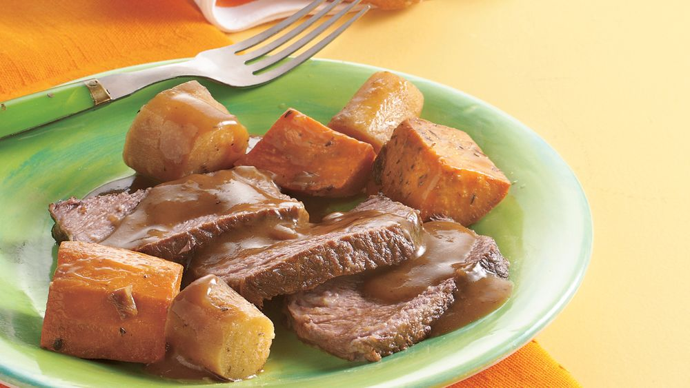 Pot Roast with Sweet Potatoes and Parsnips