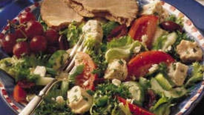 Greek Chicken Salad with Mint Vinaigrette