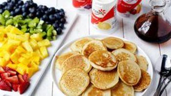 DIY Mini Rainbow Pancakes Brunch