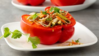 Stir Fry Stuffed Peppers