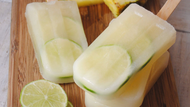 Pineapple and Lime Paletas