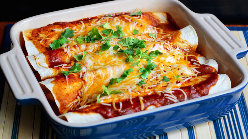 Apple, Sweet Potato and Cinnamon Enchiladas