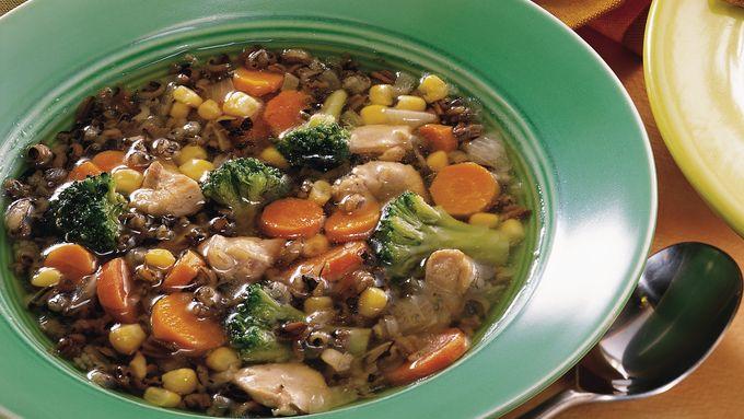 Slow-Cooker Confetti Wild Rice Soup