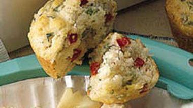 Basil-Red Pepper Muffins