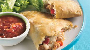 Cheesy Sausage Calzones