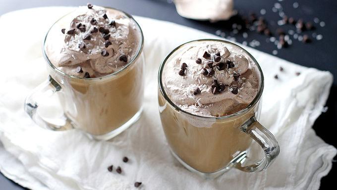 Coconut Milk Latte with Rum