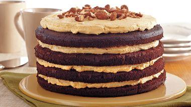 Pumpkin Almond Chocolate Torte