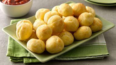 Parmesan Puffs with Marinara