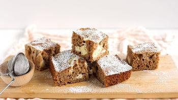 Cream Cheese-Swirled Carrot Cake Bars