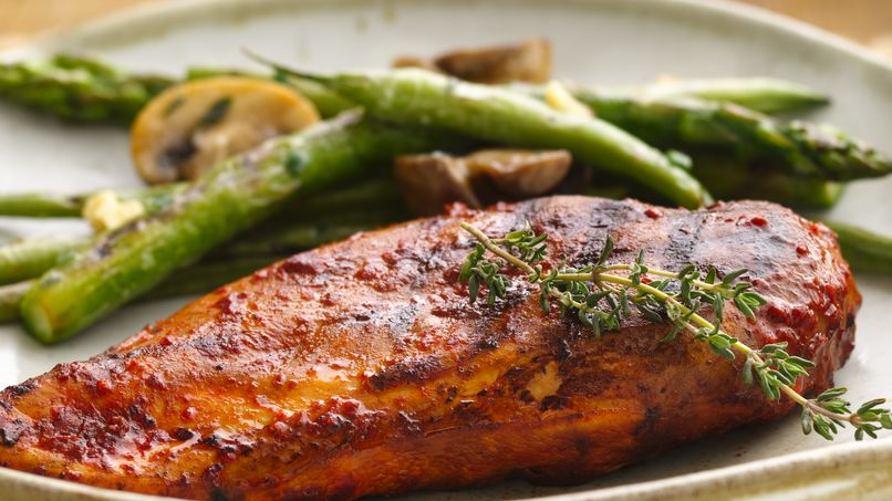 Grilled Chicken Breasts in Adobo Sauce