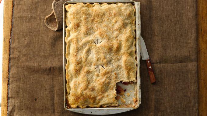 Apple-Pomegranate Slab Pie
