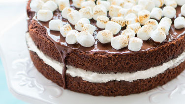 Chocolate and Marshmallow Cake