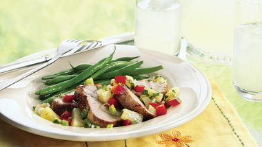 Grilled Fiery Pork with Pineapple Salsa