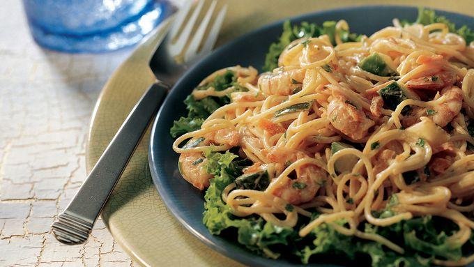 Shrimp Pasta Salad with Ginger Dressing