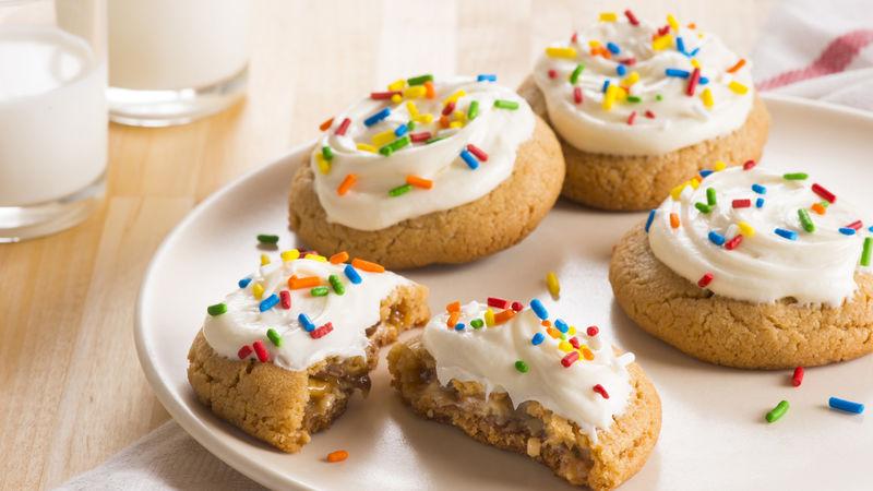 Snickers™-Stuffed Peanut Butter Cookies