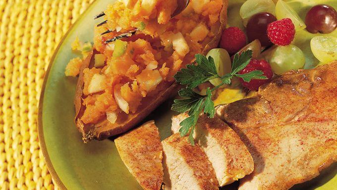 Pork with Stuffed Sweet Potatoes