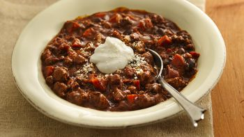 Slow-Cooker Turkey Mole Chili