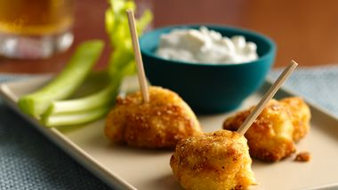 Buffalo Chicken Bites with Blue Cheese Dipping Sauce