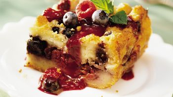 White Chocolate-Berry Bread Pudding